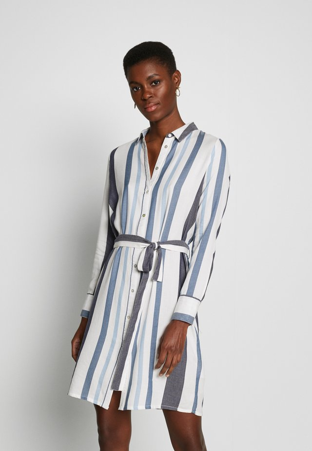 ONLANYA STRIPE DRESS SHIRT VEC - Shirt dress - cloud dancer/light blue / dark blue