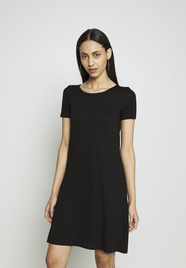 ONLBERA BACK LACEUP DRESS TALL - Jerseyjurk - black