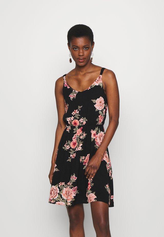 ONLKARMEN SHORT DRESS - Korte jurk - black/orange