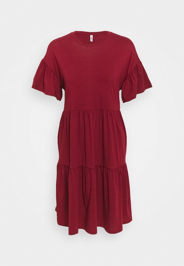 ONLMAY NEW LIFE CUTLINE DRESS - Jerseyjurk - pomegranate