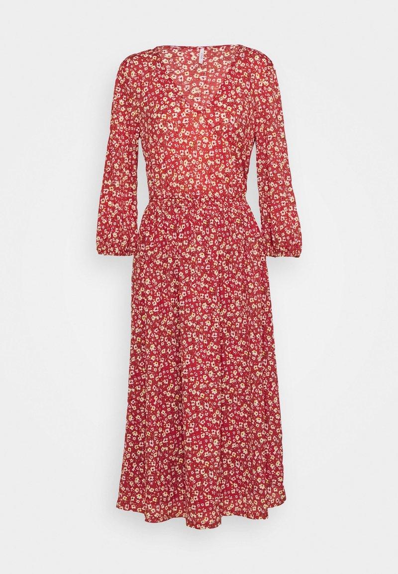 ONLY Tall - ONLPELLA 3/4 V NECK DRESS  - Kjole - red