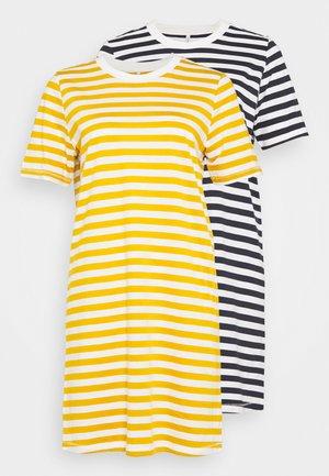 ONLJUNE LIFE DRESS 2 PACK - Trikoomekko - golden spice/night sky