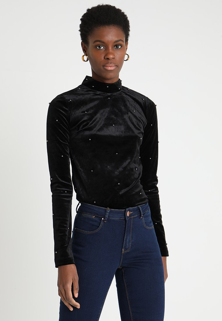 ONLY Tall - ONLARINA BEADS - Top sdlouhým rukávem - black
