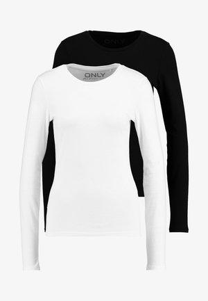 ONLCATE TIGHTFIT 2 PACK - Bluzka z długim rękawem - black