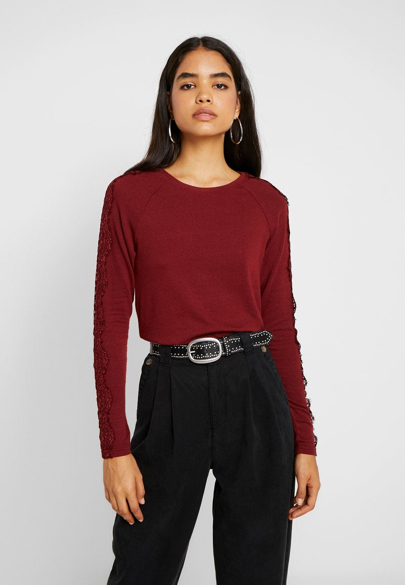 ONLY Tall - ONLTINNA CROCHET - Pullover - merlot