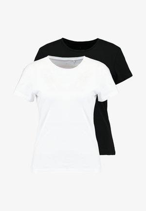 ONLPURE LIFE TOP 2PACK - Camiseta estampada - black/bright white