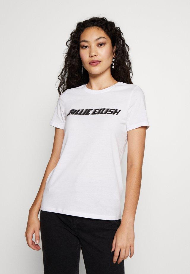 ONLBILLIE - Print T-shirt - bright white