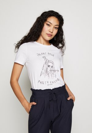 ONLBILLIE - Camiseta estampada - bright white/party favor