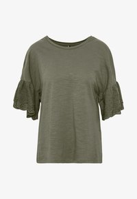 ONLY Tall - ONLCELINA LIFE - T-shirts med print - kalamata - 4