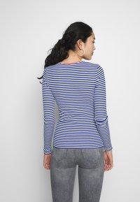 ONLY Tall - ONLTINEA O NECK - Long sleeved top - mazarine blue/cloud dancer/terra - 2
