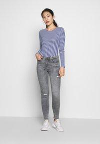 ONLY Tall - ONLTINEA O NECK - Long sleeved top - mazarine blue/cloud dancer/terra - 1