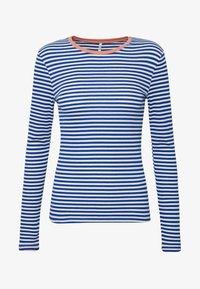 ONLY Tall - ONLTINEA O NECK - Long sleeved top - mazarine blue/cloud dancer/terra - 4