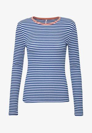 ONLTINEA O NECK - Bluzka z długim rękawem - mazarine blue/cloud dancer/terra