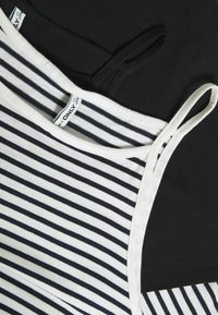 ONLY Tall - ONLMAY LIFE STRIPE 2PACK - Top - black/cloud dancer - 4