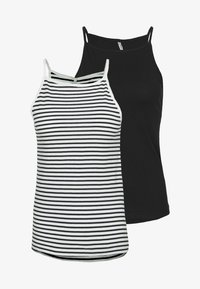 ONLY Tall - ONLMAY LIFE STRIPE 2PACK - Top - black/cloud dancer - 0