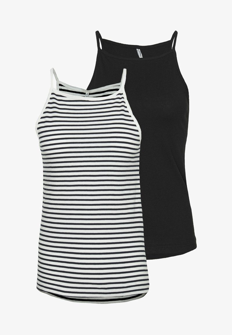 ONLY Tall - ONLMAY LIFE STRIPE 2PACK - Top - black/cloud dancer