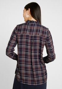 ONLY Tall - ONYNADIA CHECK - Button-down blouse - night sky/merlot - 2