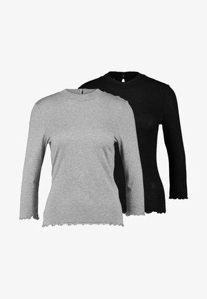 ONLWOOLY 2PACK - Bluzka z długim rękawem - black
