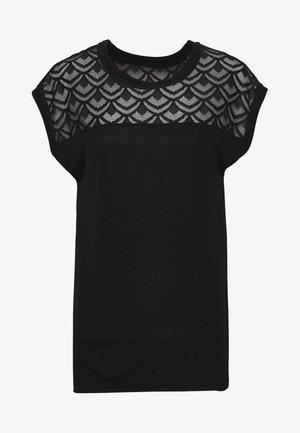 ONLNICOLE  MIX - T-shirt imprimé - black