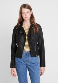 ONLY Tall - ONYFILIPPA JACKET - Faux leather jacket - black - 0