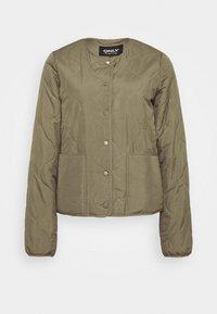 ONLY Tall - ONLJASMIN QUILTED JACKET - Light jacket - green - 4