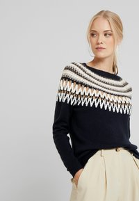 ONLY Tall - ONLAYOELLE  - Jumper - dark blue, multicoloured - 4