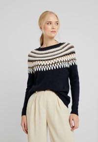 ONLY Tall - ONLAYOELLE  - Jumper - dark blue, multicoloured - 0