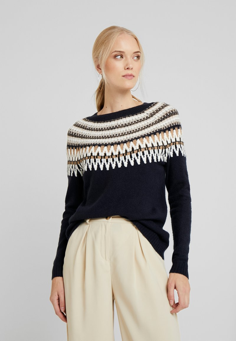ONLY Tall - ONLAYOELLE  - Jumper - dark blue, multicoloured