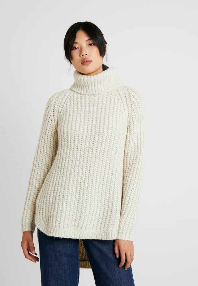 ONLMELLA ROLLNECK TALL - Jumper - almond milk