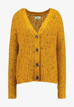 ONLHANNI BUTTON CARDIGAN - Neuletakki - golden yellow/multicolor melange