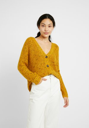 ONLHANNI BUTTON CARDIGAN - Cardigan - golden yellow/multicolor melange