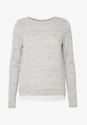 ONLASHLEY PLACKET  - Strikkegenser - light grey melange