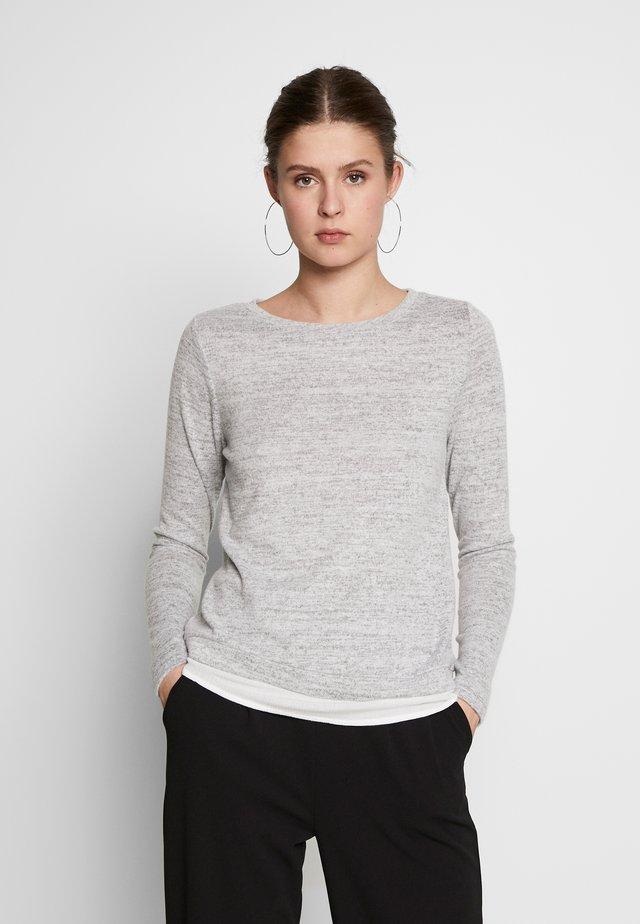 ONLASHLEY PLACKET  - Stickad tröja - light grey melange