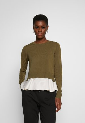 ONLLATISCHA MIX PULLO TALL - Pullover - martini olive/pumice