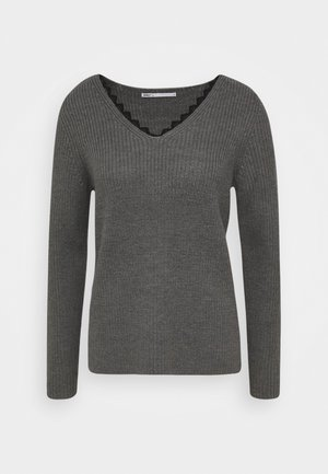 ONLJENNIE LIFE - Pullover - medium grey melange