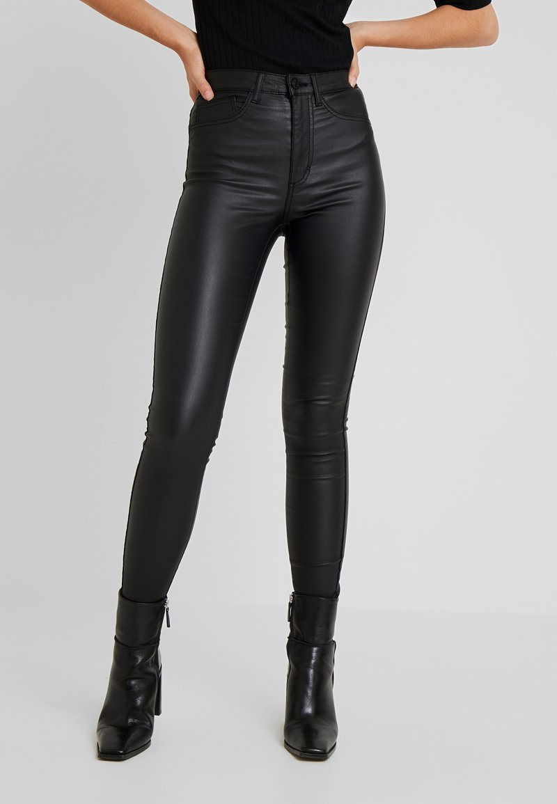 ONLY Tall - ONLROYAL ROCK COATED - Vaqueros pitillo - black