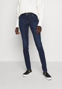 ONLY Tall - ONLALLAN PUSH UP - Jeans Skinny Fit - dark blue denim - 0