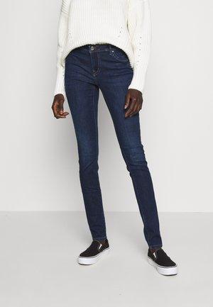 ONLALLAN PUSH UP - Jeans Skinny - dark blue denim
