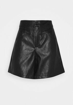 ONLKARA FAUX LEATHER  - Shorts - black