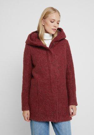 ONLSEDONA COAT - Krótki płaszcz - merlot/melange