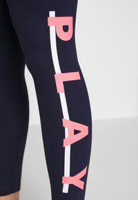 ONLY PLAY Petite - ONPFELICE  LIFE - Legging - maritime blue/ strawberry pink - 4