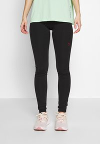 ONLY PLAY Petite - ONPPERFORMANCE TRAINING TIGHTS - Leggings - Trousers - black/red - 0