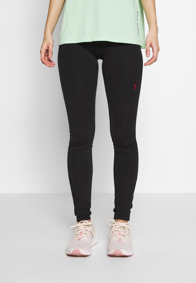 ONPPERFORMANCE TRAINING TIGHTS - Leggings - Trousers - black/red