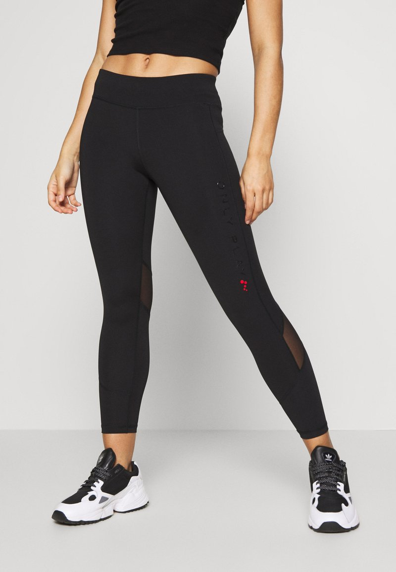 ONLY PLAY Petite - ONPPERFORMANCE RUN 7/8 TIGHTS PETIT - Leggings - Trousers - black/black/red