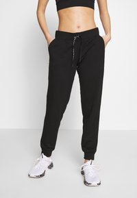 ONLY PLAY Petite - ONPPERFORMANCE ATHL AYN PANT - Legging - black/black & red - 0
