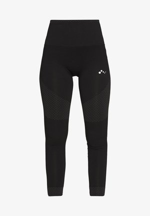 ONPJAMINA CIRCULAR TIGHTS - Leggings - black