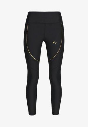 ONPJACINTE TRAINING TIGHTS PETIT - Leggings - black/white gold