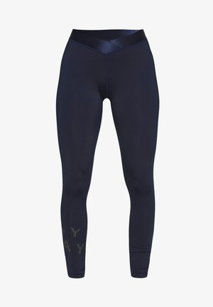 ONPMILEY TRAINING TIGHTS - Leggings - maritime blue/white gold