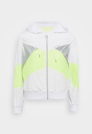 ONPAGATA JACKET PETITE - Chaqueta de entrenamiento - white/safety yellow/iridescent