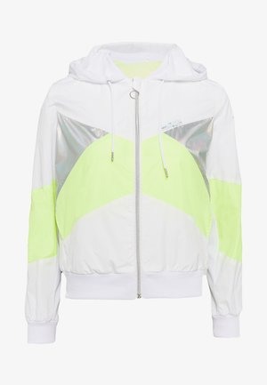 ONPAGATA JACKET PETITE - Chaqueta fina - white/safety yellow/iridescent